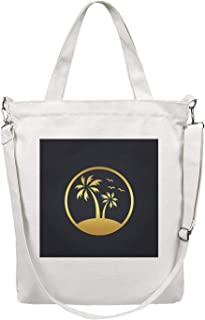 Women's Canvas Tote Bags Travel Bag Washable Handbag Perfect for Groceries Recycle Gift Bags