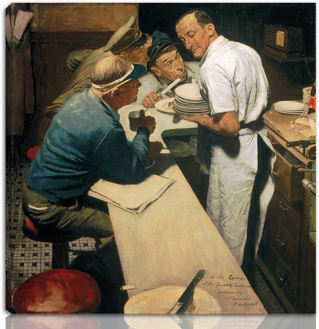 Berkin Arts Norman Rockwell Free shipping on posting reviews Stretched Raleigh Mall Giclee Print On Canvas-Fam