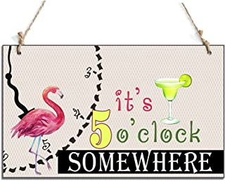 Funny Signs It's 5 O'clock Somewhere Chalkboard Hanging Sign (10