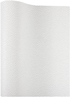 Picheng Solid Litchi White Faux Leather Sheets PU Synthetic Leather Perfect for Craft DIY Handmade Jewelry Earrings Bow Ma...