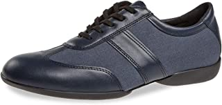 Diamante Uomo Dance Sneakers 123-325-565 - Pelle/Canvas Navy Blu - Comfort (Large) - Suola Sneaker - Made in Germany