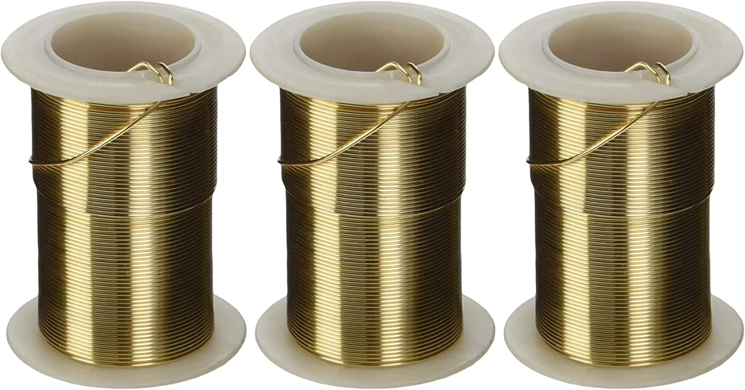 10yd Spool Tarnish Resistant Craft Wire Gold Color 18ga WR6018G