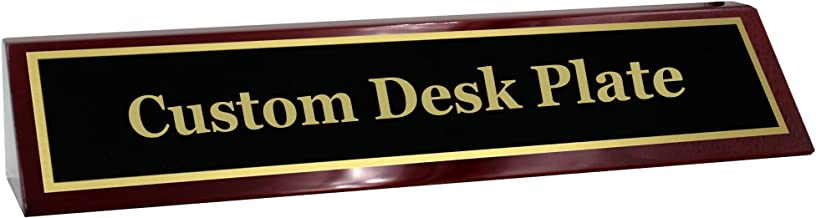 Engraved Desk Name Plate - Beautiful Custom Desk Name Plate for Business Professional & Office Staff