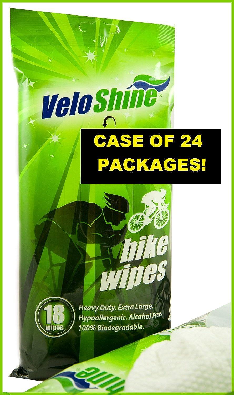 VeloShine Bike Wipes Max 67% OFF of 24 Free Shipping New Case