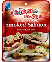 Chicken of the Sea Skinless & Boneless Pacific Smoked Salmon, 3 Ounce Pouch(Pack of 12)