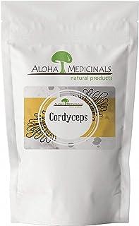 Aloha Medicinals - Pure Cordyceps - Certified Organic Mushrooms – Cordyceps Militaris – Cordyceps Sinensis - Supports Immunity, Energy and Stamina – 1 Kilo Bag (Powder)