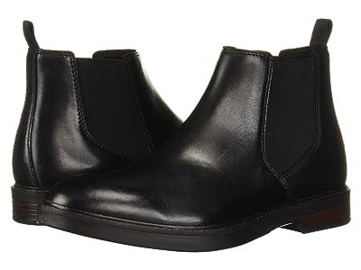 Clarks Paulson Up (Black Leather) Men