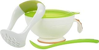 Nuby Garden Fresh Mash 'N' Feed 4 Piece Baby Preparation & Feeding System White/Green