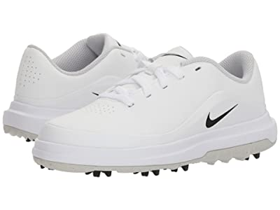Nike Golf Precision (Little Kid/Big Kid) (White/Black/Metallic Silver) Men