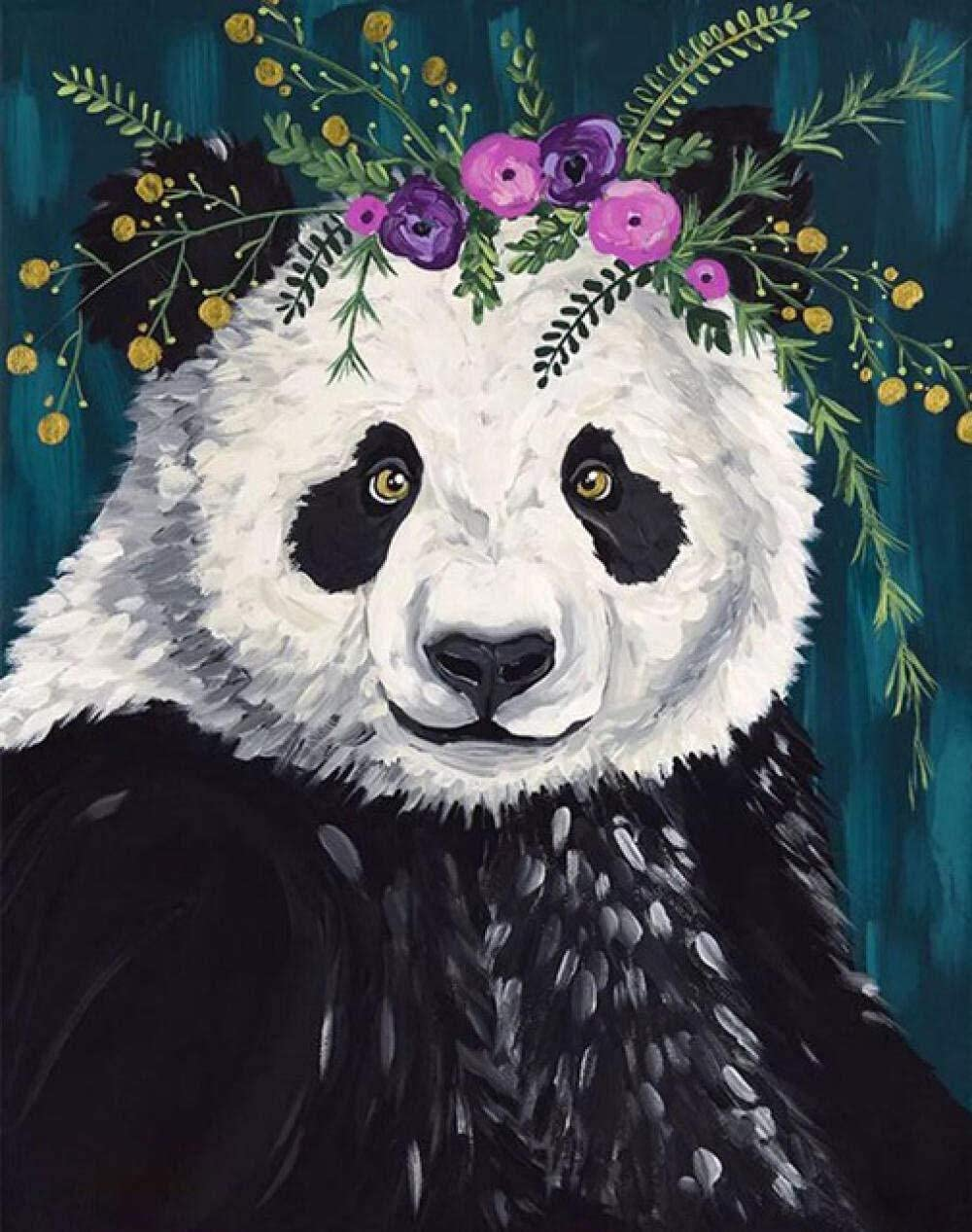 HRKDHBS DIY Oil Paint by High quality new Import Number Painting Num Kit Panda Animal