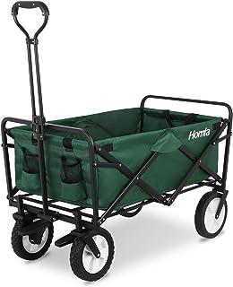 comprar comparacion Homfa Carro Playa Plegable Carro para Jardín Carro de Transporte con 4 Ruedas y Frenos 90x52x57.5cm (Verde Oscuro)