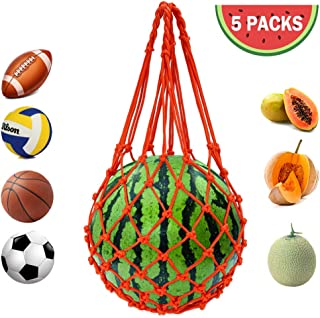 Melon Hammocks Cradles, Hanging Watermelon Nets Bags Melon Hammocks Cradles for Growing Cantaloupe, Honeydew, Watermelon, Cucumbers (Set of 5)