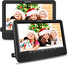 WONNIE 10.5'' Car Dual DVD Player Portable Kids Headrest CD Players, Two..