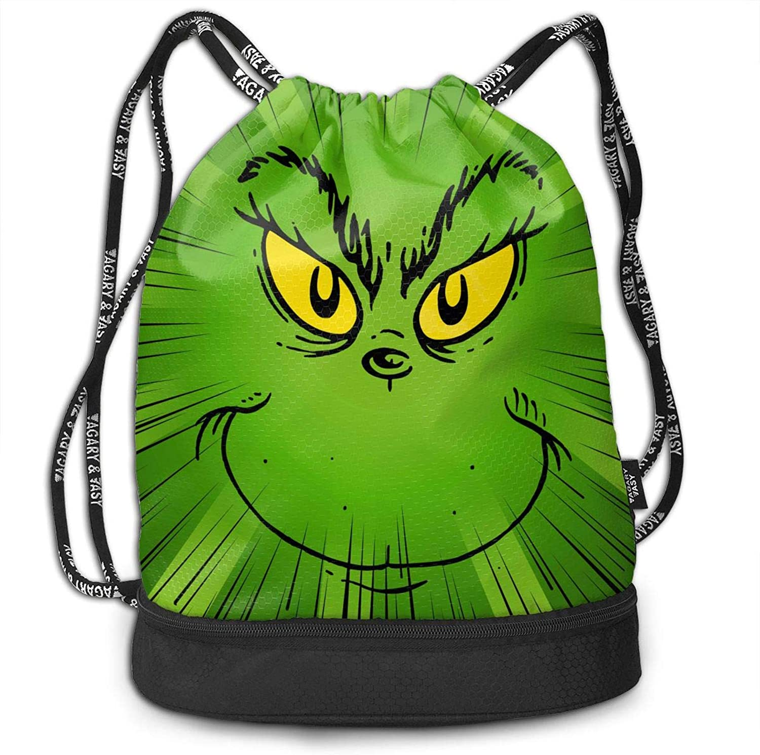 PSnsnX Backpack The Grinch Stole Christmas Sports Gym Cinch Sack Bag for Kids Gym Sackpack Dance Bag