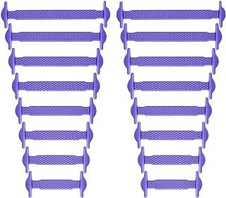 newkeen no tie shoelaces for Kids防水、シリコンゴムフラットアスレチックランニングシューズ靴紐マルチカラースニーカーブーツボードの大人の靴、カジュアルシューズ