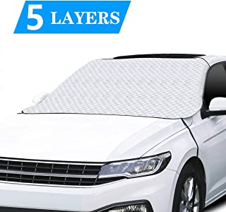 AOLODA Car Windshield Snow Ice Cover, 5 Layers Upgraded Protection Winter Windshield Cover, Universal Size Windshield Snow Cover for Cars Trucks Vans and SUVs