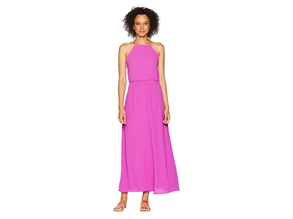 American Rose Ingrid Spaghetti Strap Maxi Dress (Magenta) Women