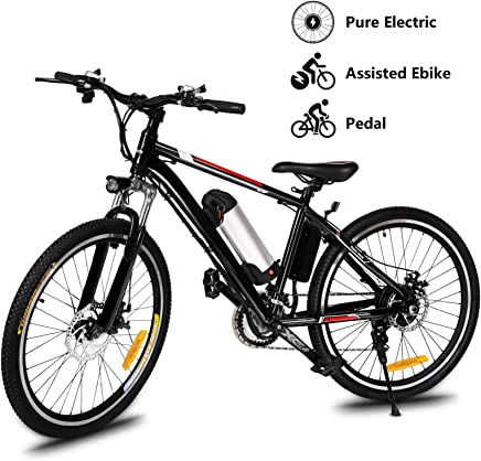 046e6817217 Yiilove Electric Mountain Bike 26'' Wheel Ebike 36V Lithium-Ion Battery,  Electric