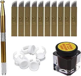 Ikevan Hot Selling Microblading Permanent 3D Makeup Eyebrow Tattoo Needle Pen Pigment Kit