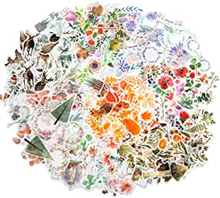 Molshine 320pcs Decorative Stickers-Forest Animal Plant Flowers Series Decals for DIY,Personalize,Bullet Diary Decoration,...