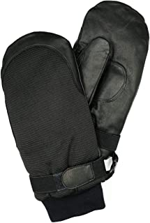 Harssidanzar Mens Womens Leather Outdoor Ski Snowboard Gloves Mittens