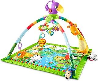 Fisher-Price 费雪音乐和灯光高级游戏毯,热带雨林 雨林
