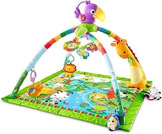 Fisher-Price Tapis musical d'éveil de la Jungle pour bébé, jouets et activités, musique et lumières dansantes, emballage f...