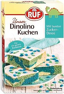 RUF Dinolino Kuchen dreifarbig mit Glasur und bunten Dinostreuseln, 2er Pack 2 x 850 g