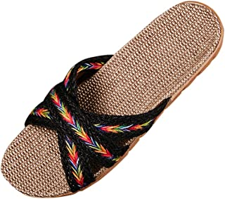 BIBOKAOKE Comfortabele damessandalen, sandalen, indoorschoenen, slide, sandalen, outdoor, crossover, gevlochten schoenen, ...
