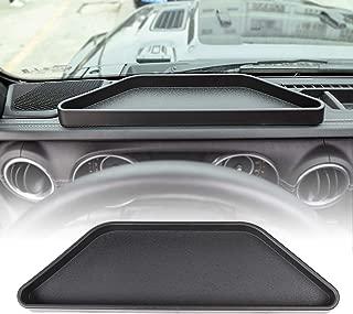 JeCar Dashboard Storage Tray Dash Console Storage Box for 2018 2019 Jeep Wrangler JL JLU & 2020 Jeep Gladiator JT, Black