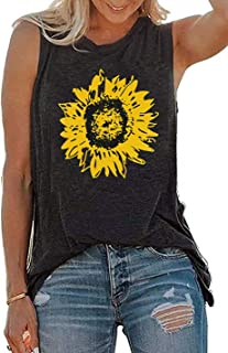 Summer Sunflower Graphic Tank Tops for Women Graphic Tank...