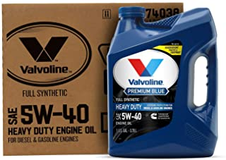 Valvoline Premium Blue Extreme SAE 5W-40 Full Synthetic Diesel Engine Oil 1 GA, Case of 3