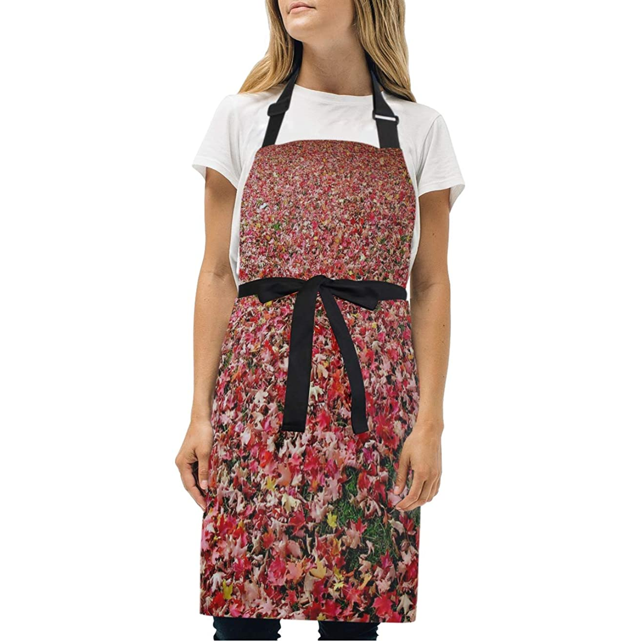HJudge Womens Aprons Most Beautiful Autumn Leaves for You Kitchen Bib Aprons with Pockets Adjustable Buckle on Neck