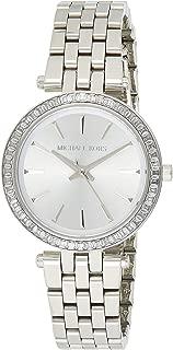 Women's Darci Watch- Glamorous Three Hand Quartz Movement Wrist Watch with Crystal Bezel