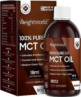 Pure C8 MCT Olie - Uit Pure Kokosolie voor een keto dieet - Vegan 500ml