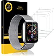 LK [6 Pack] Screen Protector for Apple Watch (42mm Series 3/2/1 44mm Series 4 Compatible), [Max...