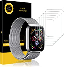 LK [6 Pack] Screen Protector for Apple Watch (42mm Series 3 2 1 44mm Series 5 4 Compatible), [Max Coverage] [Anti-Bubble] HD Clear with Lifetime Replacement Warranty