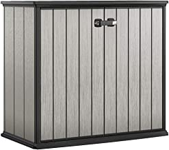 Keter Patio Store Resin Outdoor Shed for Garden Deck, and Tool Storage, Grey