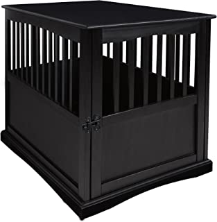 Casual Home Chappy Wooden Pet Crate with Wood Slats, Espresso