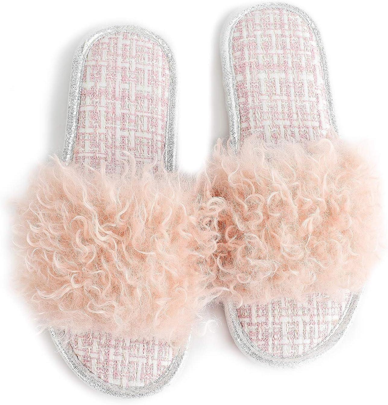 Husmeu Women's Memory Foam Slippers Slipper Slip Max 45% OFF Fuzzy Non supreme