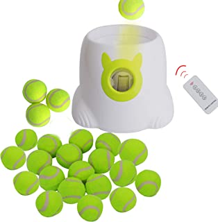 Automatic Dog Ball Launcher & Thrower - Throwing Distance Settings + 3 Balls Included Dog Fetch Machine Interactive Toy for Small Dog Indoor & Outdoor Use