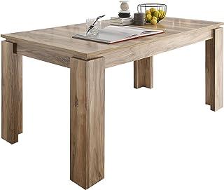 Maisonnerie 1100-162-00 Table de Salle à Manger Extensible Noyer Satiné LxLxH 160-200 x 90 x 77 cm