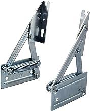 Gedotec Hoekbankscharnier, klapconsole, klapdrager voor houten zitplaten, kistbankbeslag met veer, plaatgewicht tot 8 kg, ...