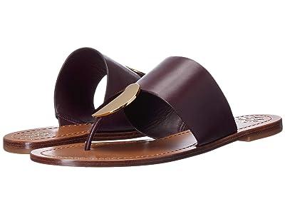 Tory Burch Patos Disk Sandal (Malbec/Gold) Women
