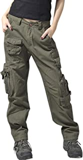 Women's Active Loose Fit Military Multi-Pockets Wild Cargo Pants
