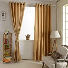 2PCS 100 * 250cm Grommet Blackout Curtain Linings Panel Solid Bright Colored Window Curtains Soft Window Drape Classy Wind...
