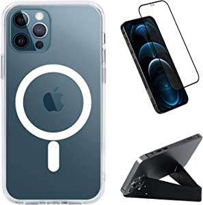 Compatible with iPhone 12/12 Pro Clear Mag-Safe Case with Built-in Magnet Circle, Support Mag-Safe Charger, Shockproof Magnetic Case for iPhone 12/12 Pro 6.1