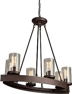 Artcraft Lighting Menlo Park 6-Light Chandelier, Dark Chocolate