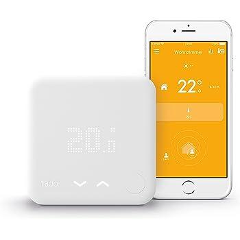 tado° Termostato Inteligente - Kit de Inicio (v3) - control inteligente de la calefacción por geolocalización y a través del smartphone (versión Alemania)