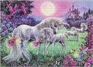CHAOCHI Puzzle 1000 Pièces Adultes,Enfant Puzzle,Romantique Licorne Rose Puzzle (70x50cm)